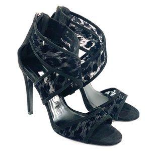 Diane von furstenberg 7 black Jules heeled sandals